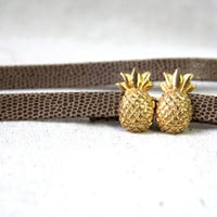 VTG golden pineapple skinny waist belt