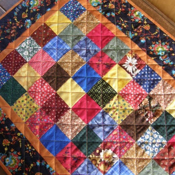 Rustic Quilted Patchwork Table Runner
