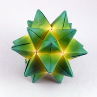 Origami Star Paper Ornament Green and by CreativeLifeByEmily