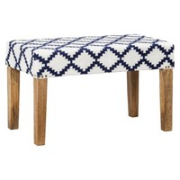 Threshold™ Woven Wood Bench - Navy/Cream