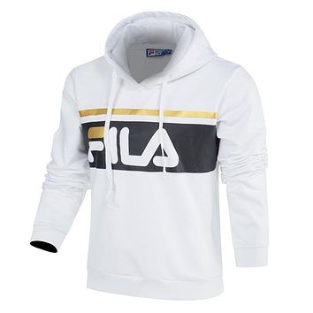 Fila Women Men Couple Fashion Casual Long Sleeve Top Sweater Hoodie