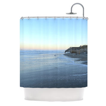 "Robin Dickinson ""Sand Surf Sunshine"" Beach Shower Curtain"
