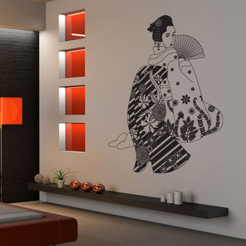 Vinyl Wall Decal Sticker Seductive Geisha #OS_DC675