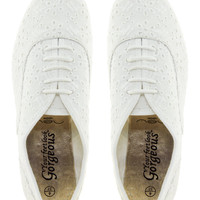 New Look Jamboree Embroidered Lace Up Shoes at asos.com