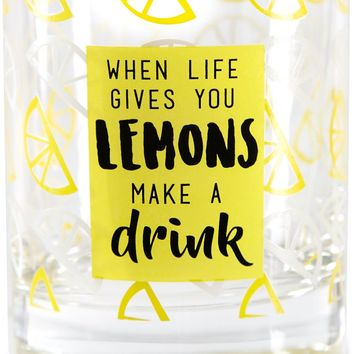 When life gives you lemons make a drink Glass / Tea Light Holder