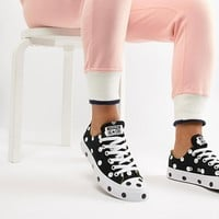 Converse Chuck Taylor All Star Trainers In Polka Dot at asos.com