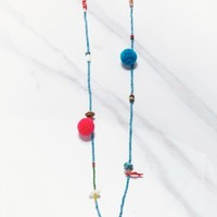 AFGHANISTAN BEADS TASSEL NECKLACE