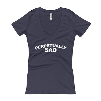 Perpetually Sad Women's V-Neck T-shirt