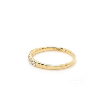 Diamond Modern & Bold Band in 14k Yellow Gold