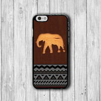 Wood Elephant Aztec Pattern iPhone 6 Cases, Geometric iPhone 6 Plus Print iPhone 5S iPhone 5 Case, iPhone 5C Case, iPhone 4S Case, iPhone 4