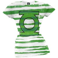 Green Lantern - Lantern Stripes Juniors T-Shirt