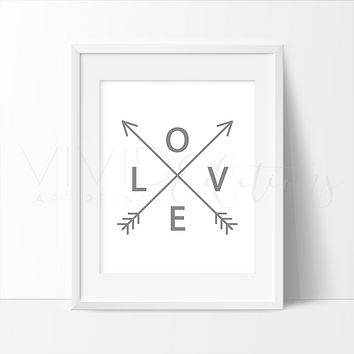 Gray Love Arrows