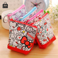 1pc lovely hello Kitty pu leather coin purses zero wallet child girl women change purse,lady zero wallets,coin bag Free shipping
