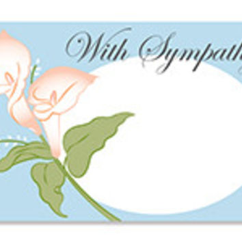 With Sympathy Lilies Blank Note Card