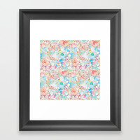 Watercolor Love Framed Art Print by All Is One