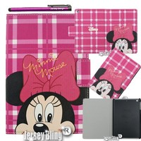 Minnie Mouse iPad Air (iPad 5) Lightweight Slim Smart Cover/Case with FREE Minnie Mouse Gift Item & Jersey Bling® Stylus