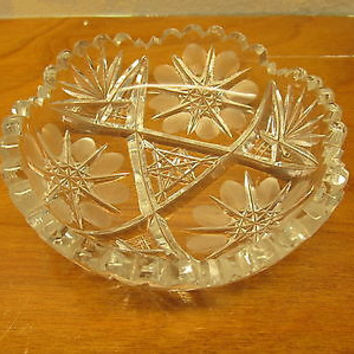 VINTAGE LEAD CRYSTAL CANDY DISH