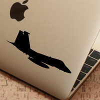 "Fighter Jet Sticker Decal MacBook Pro Air 13"" 15"" 17""  Laptop Decal F15 Fighting Eagle Decal Sticker Silhouette Sticker Car Truck Decal"