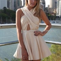 MAJORITY RELEASE 2.0 DRESS , DRESSES, TOPS, BOTTOMS, JACKETS & JUMPERS, ACCESSORIES, 50% OFF SALE, PRE ORDER, NEW ARRIVALS, PLAYSUIT, COLOUR, GIFT VOUCHER,,White,CUT OUT,Brown,SLEEVELESS Australia, Queensland, Brisbane