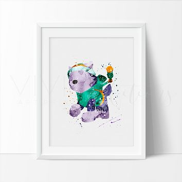 Everest, Paw Patrol Watercolor Art Print
