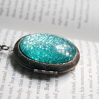 A Mermaid's Tail - Large Antiqued Brass Locket