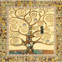 Tree of Life by Gustav Klimt Italian Wall Hanging