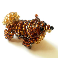 Pomeranian Beaded Dog Sculpture