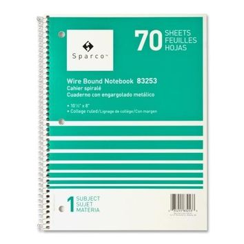 1 Subject Spiral College Rule Notebook - 80 Sheets Case Pack 21