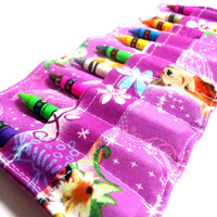 Crayon Roll, Crayon Roll Up, Crayon Holder Disney Fairies Fairy Hollow Tinker Bell