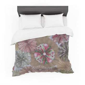 "Heidi Jennings ""Pink Lady"" Neutral Brown Featherweight Duvet Cover"