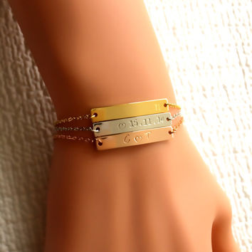 Rose Gold Silver Bar Bracelet, Gift For Her, Personalized gift, Name Date Bracelet, Initial Bracelet, Mom Sister Aunt Gift