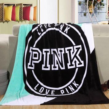 Pink VS Blankets Single 130x150cm Super Soft