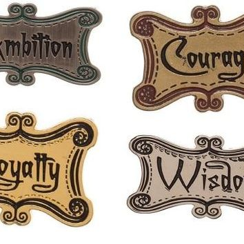 Harry Potter House Ideals Pins
