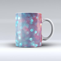 The Unfocused Blue and Red Orbs ink-Fuzed Ceramic Coffee Mug