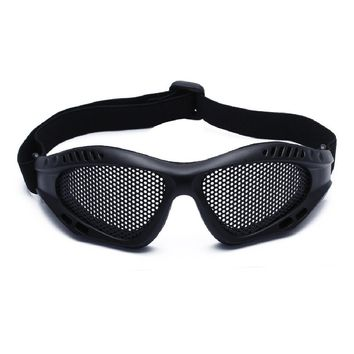 Outdoor Eye Protection Comfortable Airsoft Safety Tactical Glasses Goggles Anti Fog With Metal Mesh