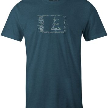 Morse Code T-Shirt Indigo Heather