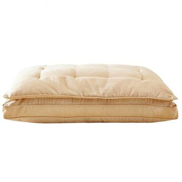 Quilted Silk Fill Pillow (Standard/Queen 48cmx74cm 1pc  Premium Quality Bed Pillows For Side and Back Sleepers