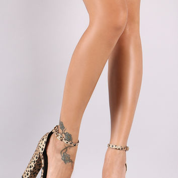 Starry Metallic Glitter Open Toe Platform Heel