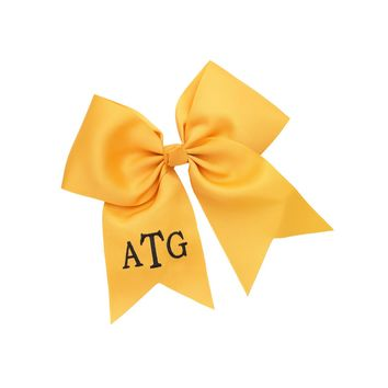 Gold Monogrammed Hair Bow