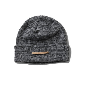 The Facet Beanie In Heather Grey