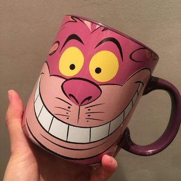 Cartoon Cute Alice In Wonderland Cheshire Cat Porcelain Ceramic Tea Coffee Mug Cup Birthday Gift Collection