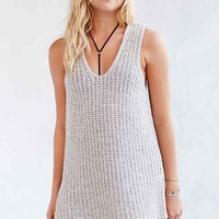 Silence + Noise Tuck-Stitch Tunic Top