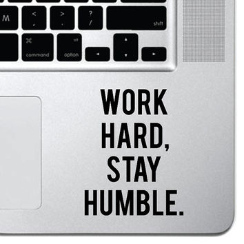 "Work Hard Motivational Macbook Sticker Decal MacBook Pro Decal Air 13"" 15"" 17"" Keyboard Mousepad Trackpad Laptop Inspirational Sticker"