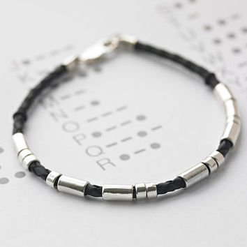 Personalised Men's Morse Code Bracelet