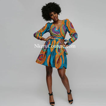 African Clothing batik dresses lady female dress Parent-child outfit  plus size DG77