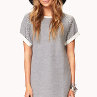 Embellished French Terry Dress