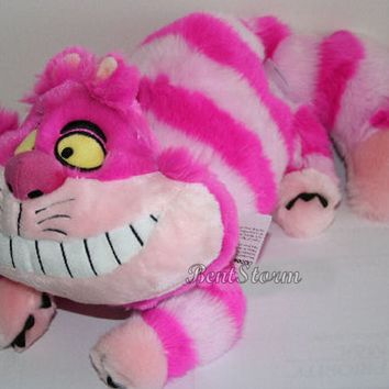 "Licensed cool NEW Disney Store Exclusive Alice In Wonderland 20"" Cheshire Cat Plush Toy Doll"
