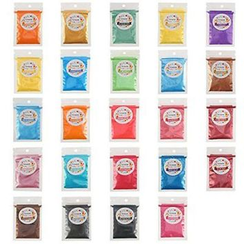 Mica Pigment Powder 24Pc/Set Colorant Bath Bomb Soap Nail Art Dye Candle Making