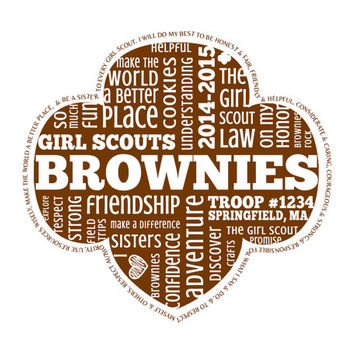 Personalized Brownies Girl Scouts Word Art