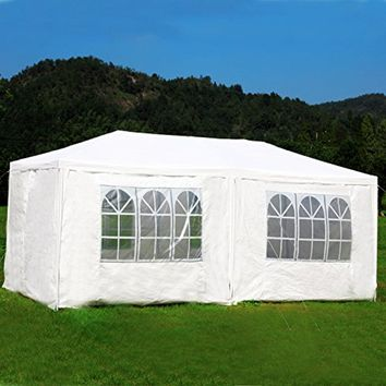 MCombo Canopy Party outdoor Gazebo Removable Wedding Tent, White, 10' x 20'